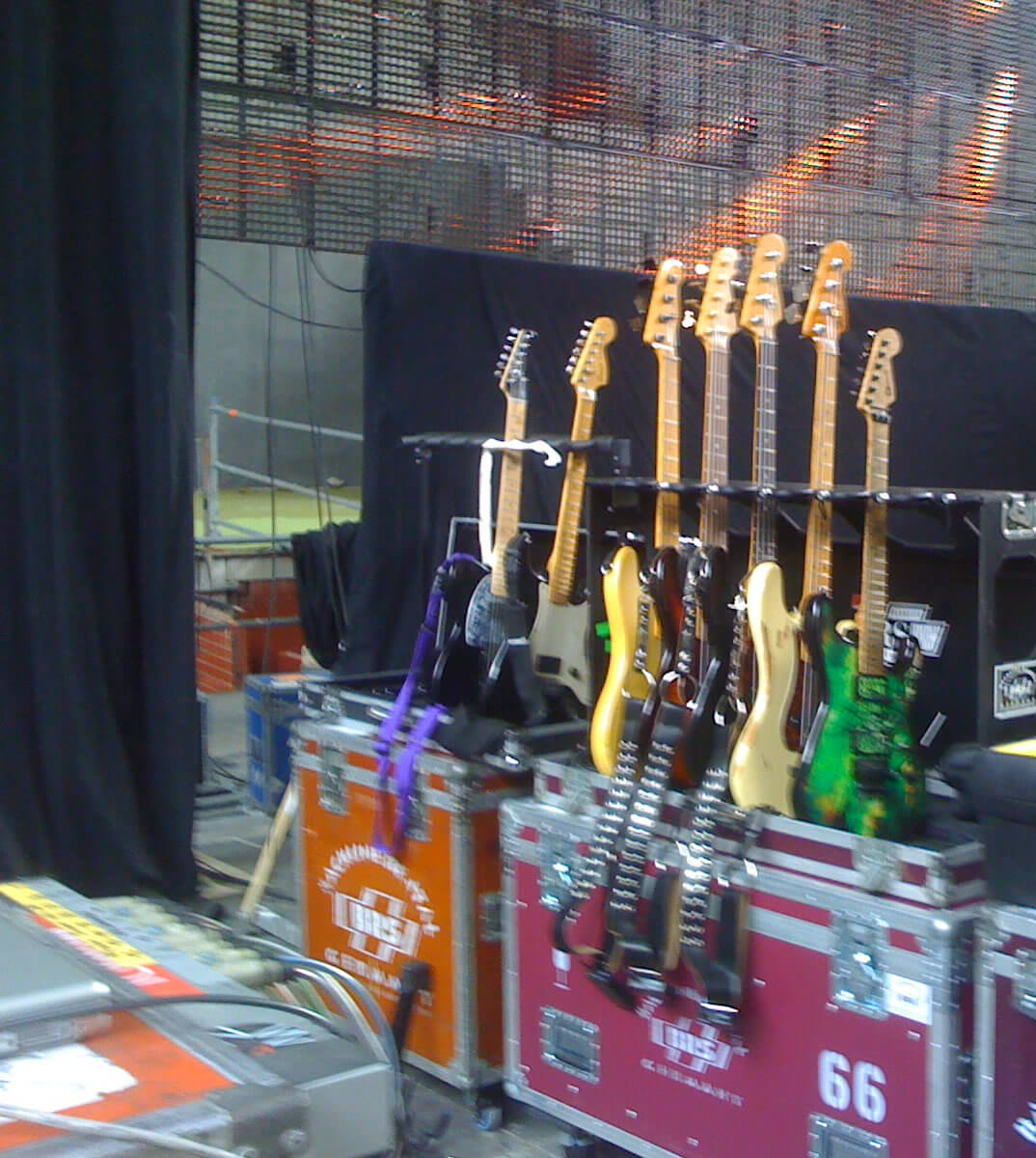 Tom McDyne - CHARVEL guitar in Madrid Spain with THE SCORPIONS