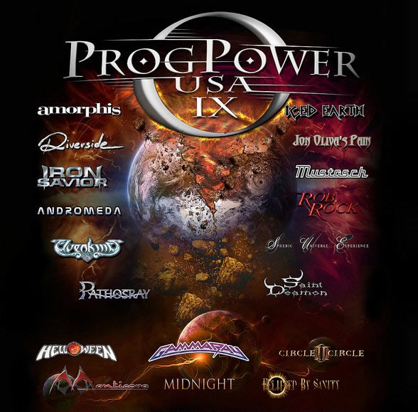 Tom McDyne ProgPower USA IX with Jon Oliva's Pain