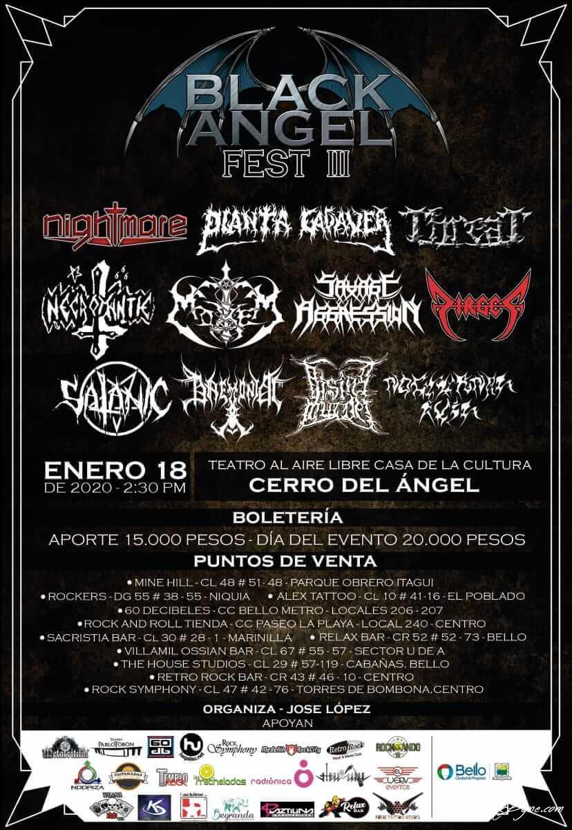 Tom McDyne Black Angel Fest III NEKROMANTIE -TEATRO AL AIRE LIBRE CASA DE LA CULTURA CERRO DE ANGEL MEDELLIN COLOMBIA