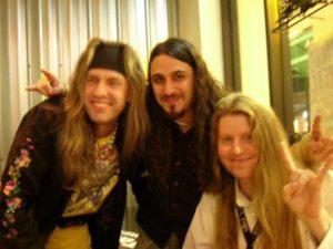 Tom McDyne - Armand Melnbardis, Mark El Hosri & Tom backstage at Trans-Siberian Orchestra