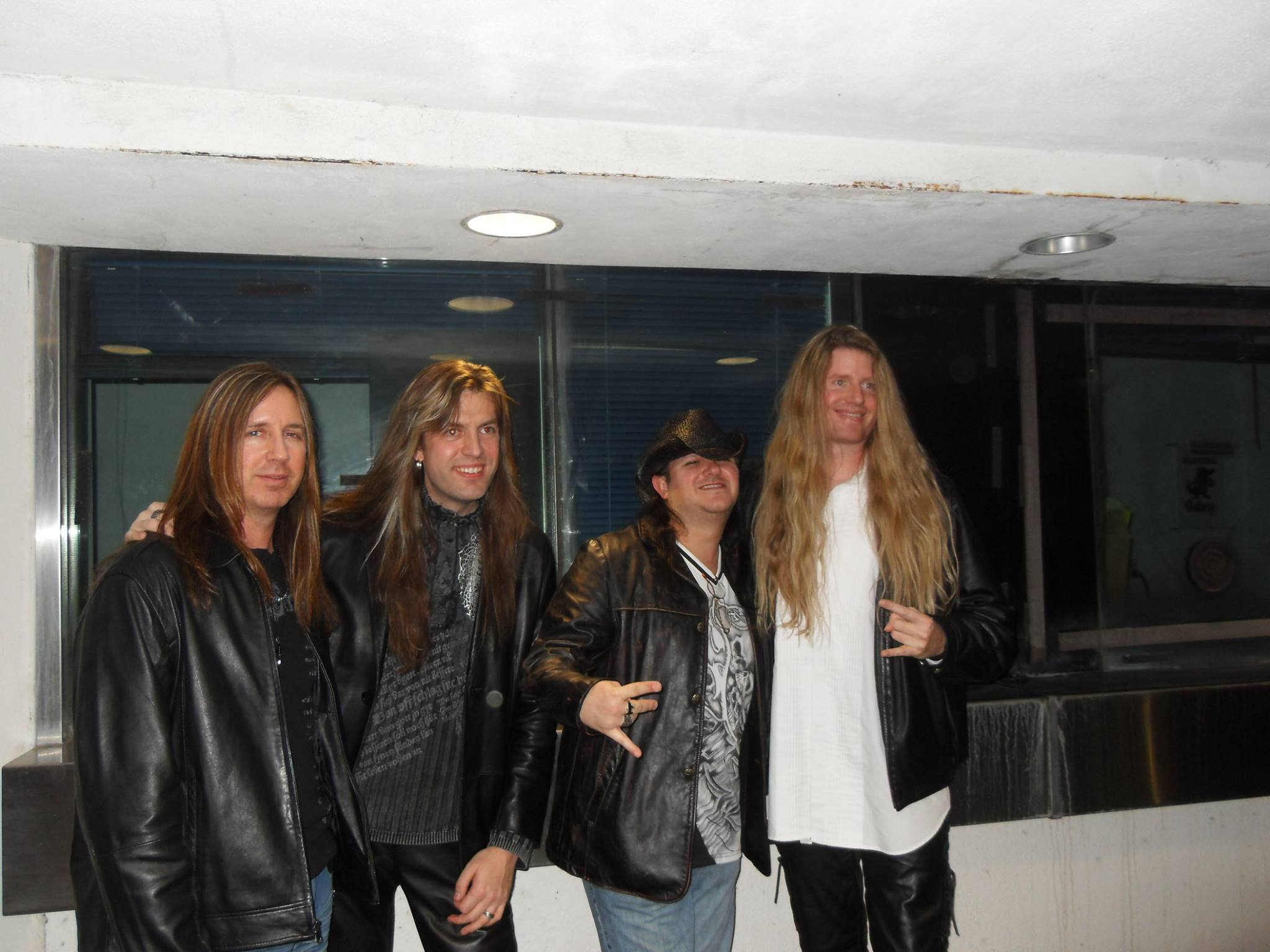 Tom McDyne - Tracy Shell, Armand Melnbardis, Morgan Ashley (DORIAN) and Tom backstage at a Trans-Siberian Orchestra concert