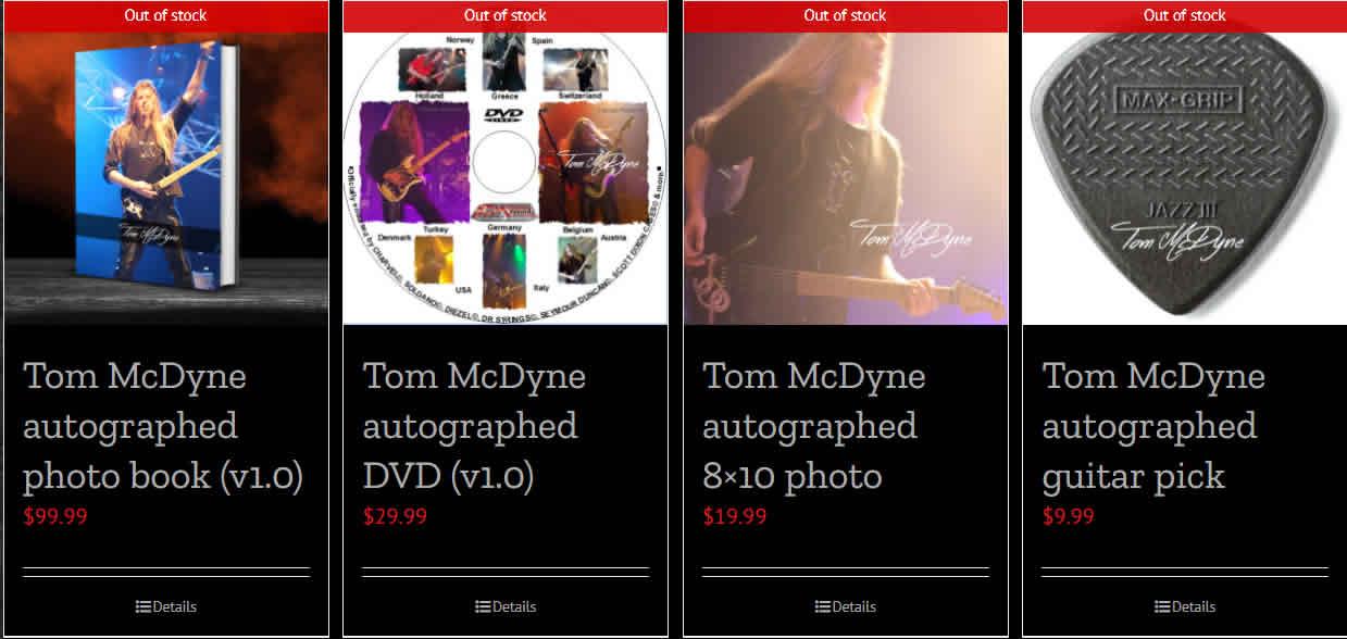 Tom McDyne store desktop